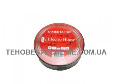 Изолента ПВХ 0,17мм*18мм*21м, черная, ELECTRO HOUSE