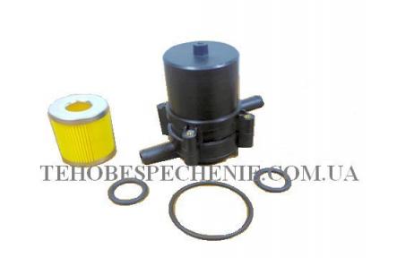 Фильтр тонкой очистки газа SUPERULTRA  370 M с отстойником,под сое-ние  12х12(пластик),со сменным элементом.фильтрующим(наружн.d-42;внутрен.-17,5;высота-51мм)