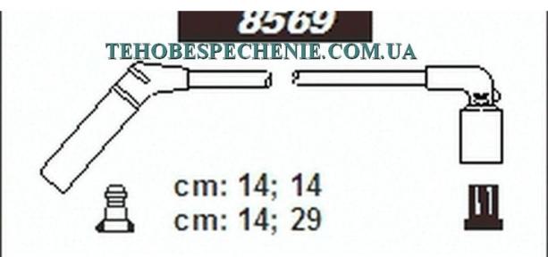 Комплект проводів високої напруги SENTECH для автомобіля Chevrolet Aveo sohc 1,0-1,2; 8V