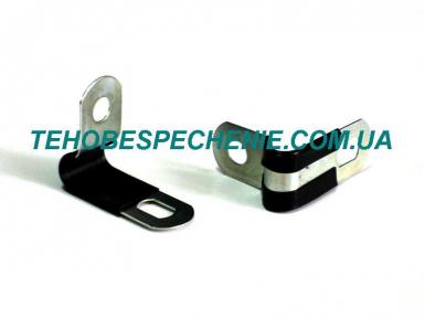 Скоба кріплення трубки d.10-12 мм з ізоляцією