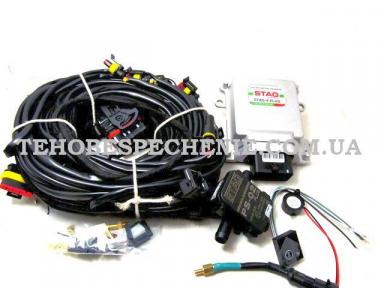 Комплект електроніки системи EURO 4 STAG-4 PLUS, ISA-2 для 4-х цил.двигуна (ECU-блок, МАРсенсор, перемикач, датчик t, зумер, джгут проводів)
