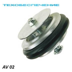 Клапан антіхлопок AV02 D-50мм. з гумою