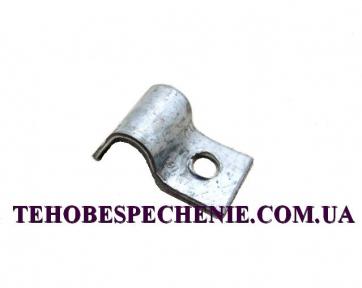 Скоба кріплення трубки d.6 сталева (мала)
