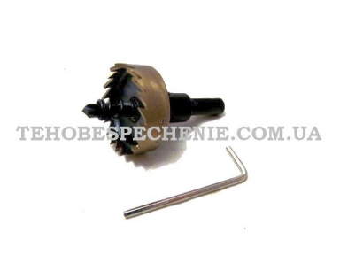 Фреза корончата по металу з циліндричним хвостовиком d 38 мм L-70 мм, DRILLEX