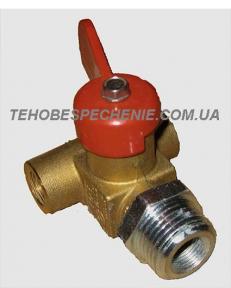 Наполнительный газовый клапан Emer (флажковый) VALC 600 c штуцером под адаптер, Италия