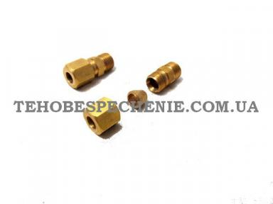 Врізка-перехідник для трубки мідної d.6 мм, латунь